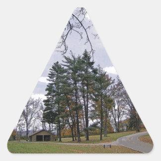 A Road Not Taken Triangle Sticker
