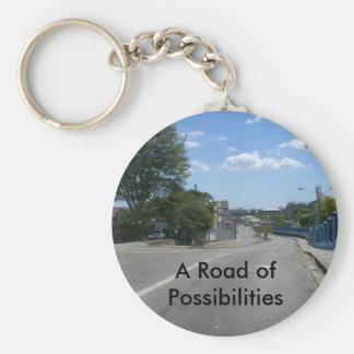 A Road of Possibilities Basic Round Button Keychain