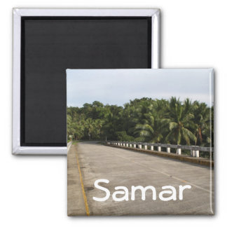 A road on Samar 2 Inch Square Magnet