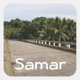 A road on Samar Square Sticker