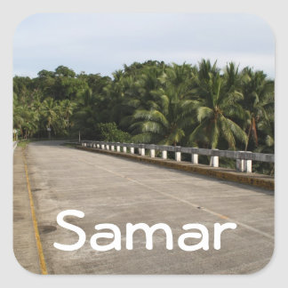 A road on Samar Square Sticker