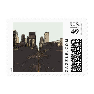 A Road Trip to San Francisco Postage Stamp