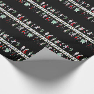 A Roaring 20s Holiday Gift Wrapping Paper