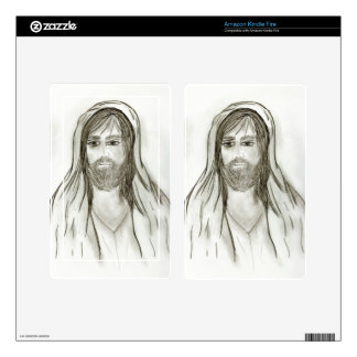 A Robed Jesus Kindle Fire Decal