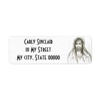 A Robed Jesus Return Address Label