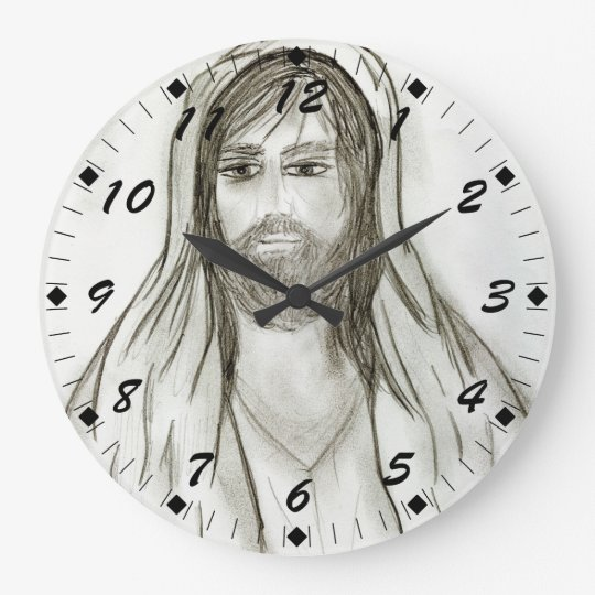 A Robed Jesus Large Clock