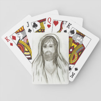 A Robed Jesus Playing Cards