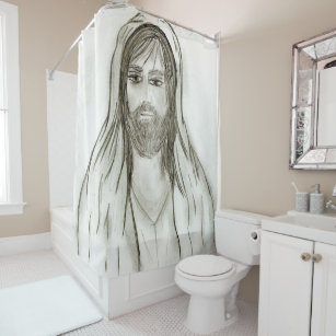 A Robed Jesus Shower Curtain