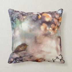 A Robin's Dream Polyester Throw Pillow 16