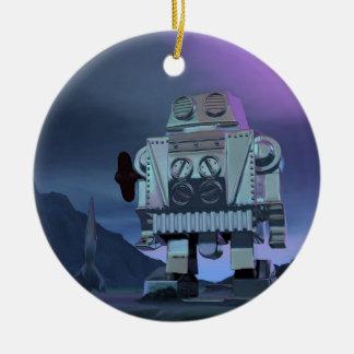 A Robot Moon Walker Ornament