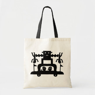 A Robot On Top Of A Car Tote Bag