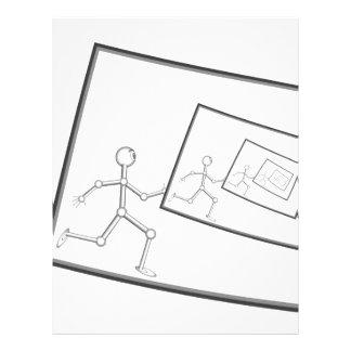 A Robot Running Into Itself Letterhead