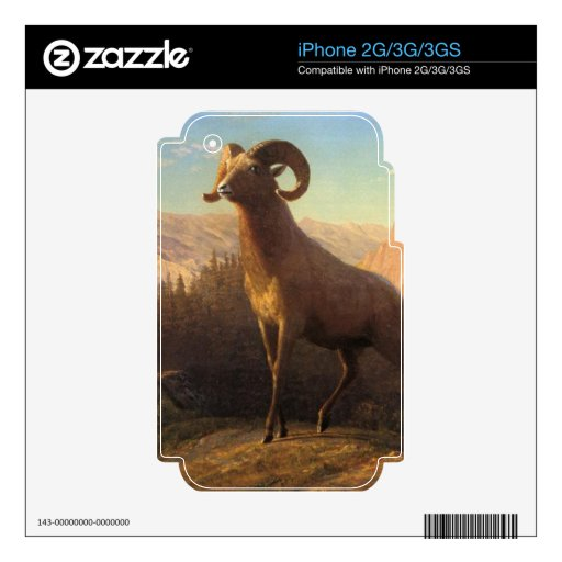 a rocky mountain sheep, Bierstadt Albert Decal For The iPhone 3