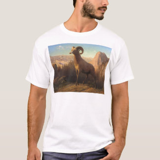 a rocky mountain sheep, Bierstadt Albert T-Shirt