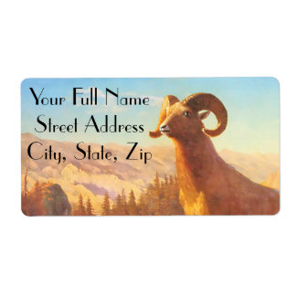 A Rocky Mountain Sheep by A. Bierstadt Label