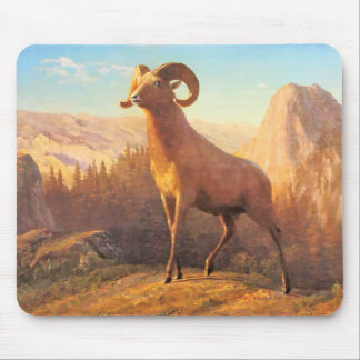 A Rocky Mountain Sheep by A. Bierstadt Mouse Pad