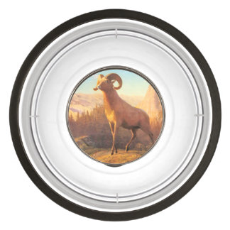 A Rocky Mountain Sheep by A. Bierstadt Pet Bowl