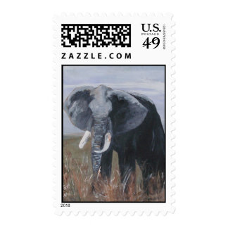 """A Rogue Elephant"" Postage Stamp"