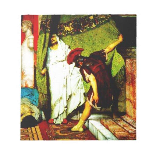 a roman emperor  by Sir Lawrence Alma Tadema Memo Note Pad