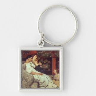 A Roman Family, 1867 (oil on canvas) Keychain