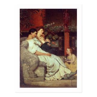 A Roman Family, 1867 (oil on canvas) Postcard