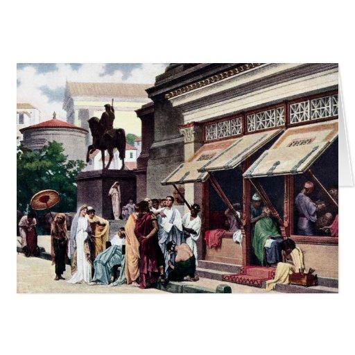 A Roman Street Scene Greeting Cards