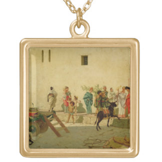 A Roman Street Scene with Musicians and a Performi Pendant