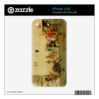 A Roman Street Scene with Musicians and a Performi Skin For iPhone 4S