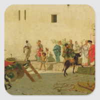A Roman Street Scene with Musicians and a Performi
