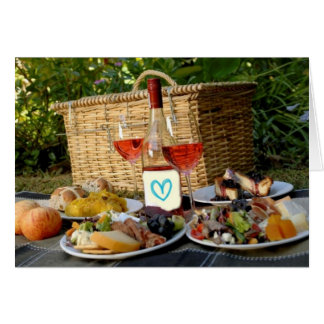 A ROMANTIC PICNIC TO LAST A LIFETIME-TO GROOM GREETING CARD
