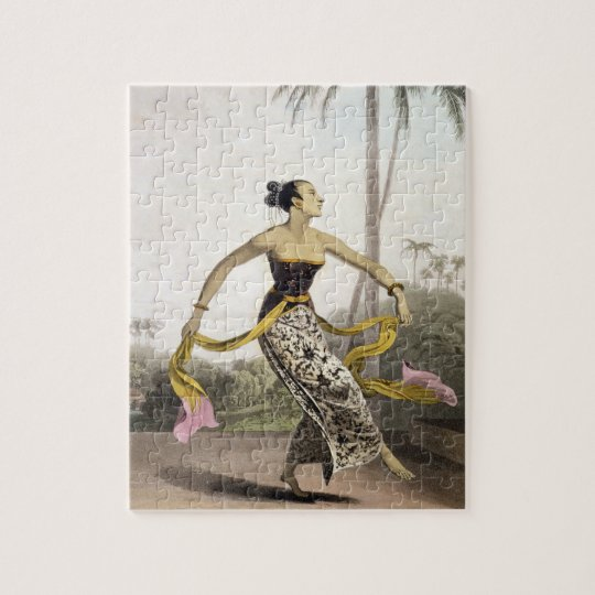 A Ronggeng or Dancing Girl, plate 21 from Vol. I o Jigsaw Puzzle