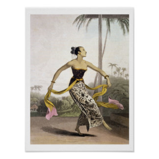 A Ronggeng or Dancing Girl, plate 21 from Vol. I o Print