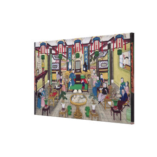 A Room in the House of Mr. Kong, a Peking Merchant Canvas Prints