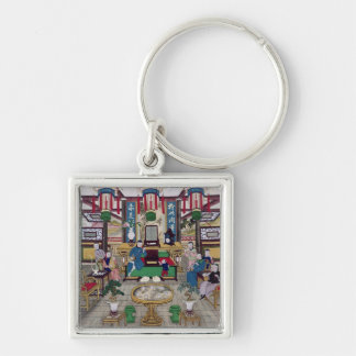 A Room in the House of Mr. Kong, a Peking Merchant Keychain