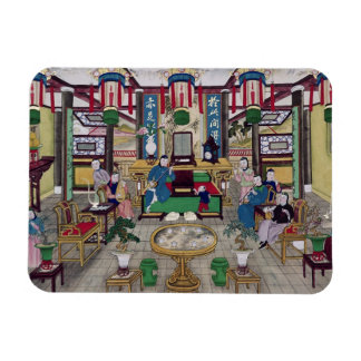 A Room in the House of Mr. Kong, a Peking Merchant Magnet