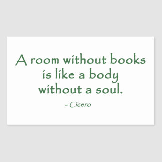 A Room Without Books (Cicero) Rectangular Sticker