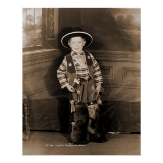 A Rooting Tooting Cowboy Poster