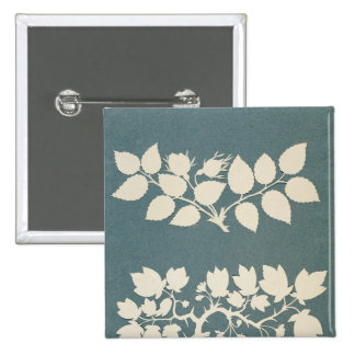 A Rose Branch and Jasmin Branch 2 Inch Square Button