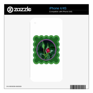 A rose bud for you my love Flower Floral 100 gifts iPhone 4 Decal