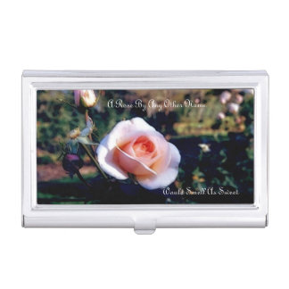A Rose By Any Other Name Business Card Holder