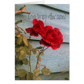 a rose by any other name? card