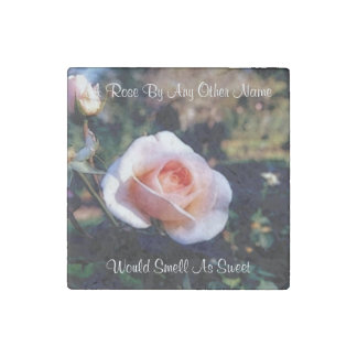 A Rose By Any Other Name Stone Magnet