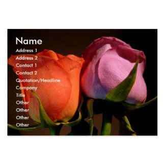 A Rose Couple Business Card Templates
