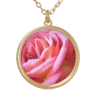 A Rose for Always Round Pendant Necklace