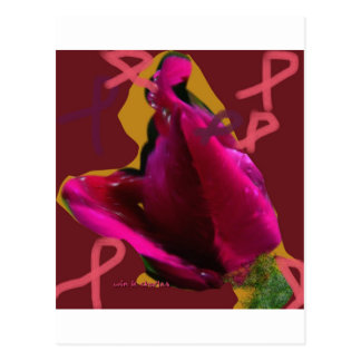 a rose for cansor post card