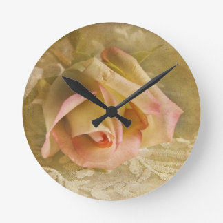A Rose From The Heart Wall Clock