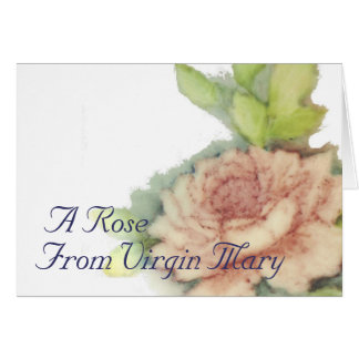 A Rose From Virgin Mary-Customize Card