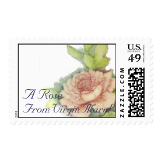 A Rose From Vurgin Mary! Postal Stamp-Customize