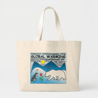 A Rose in Arctic thats global warming Large Tote Bag