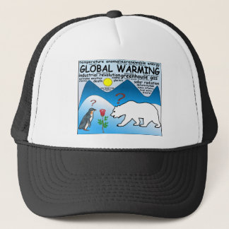 A Rose in Arctic thats global warming Trucker Hat